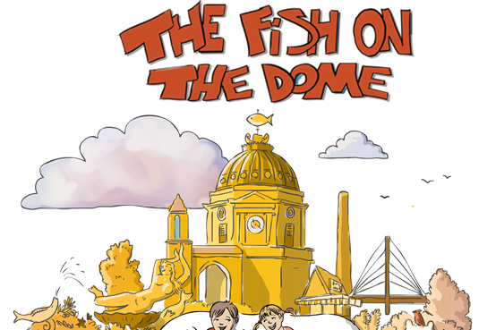 a image from the cover of the children's book - The Fish on the Dome