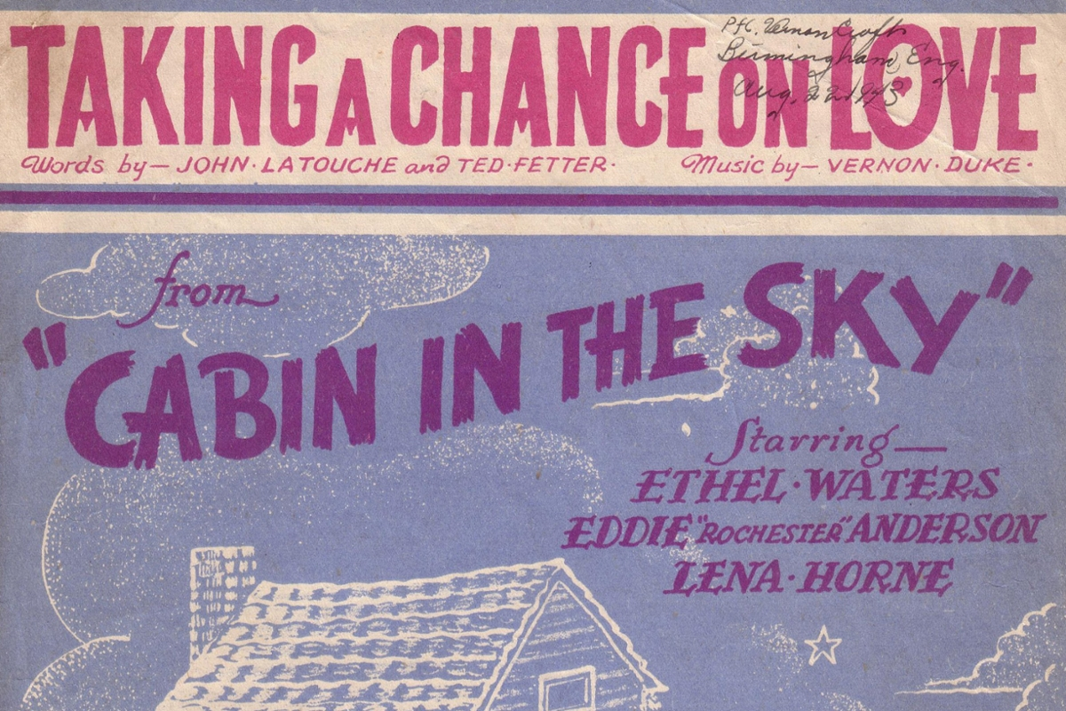 showbill of cabin in the sky