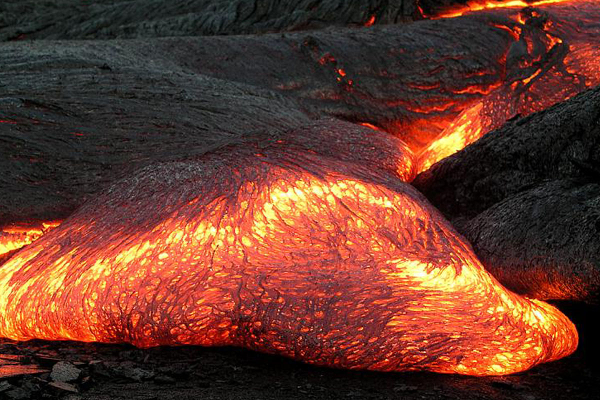 Photo of magma.