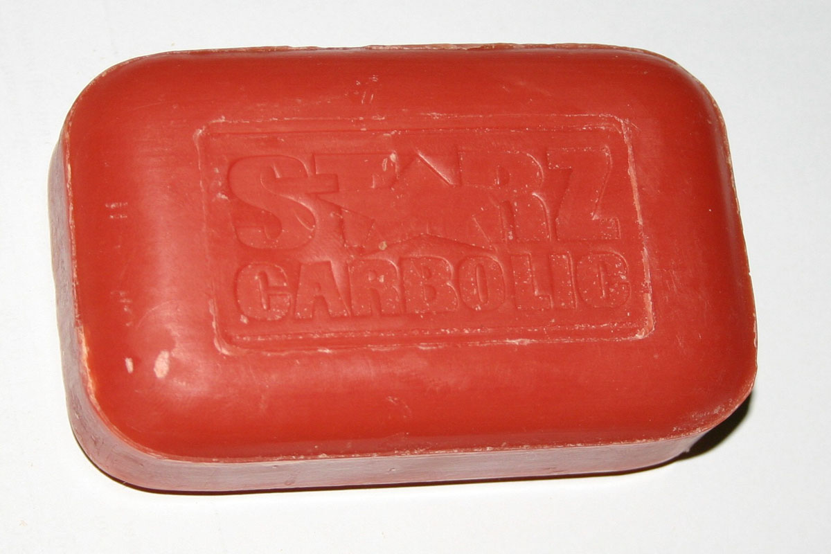 Photo of a bar of soap.