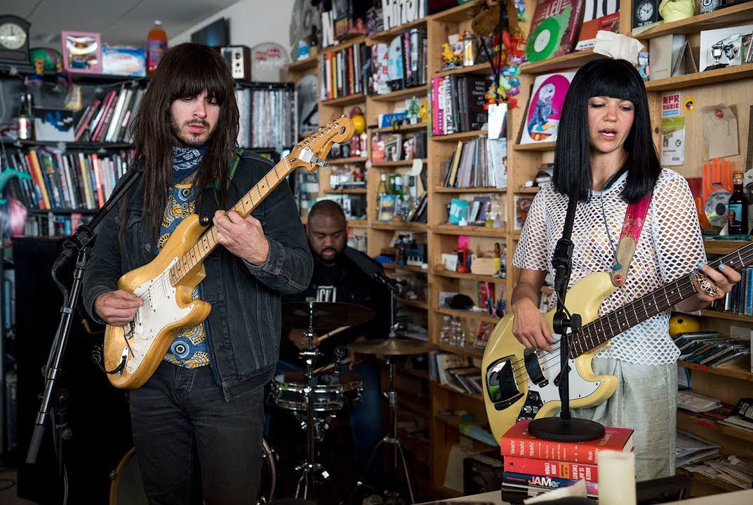 Khruangbin performing on NPR's Tiny Desk