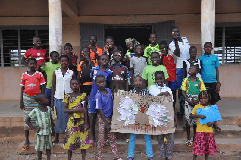 youth of Benin celebrating thanksgiving