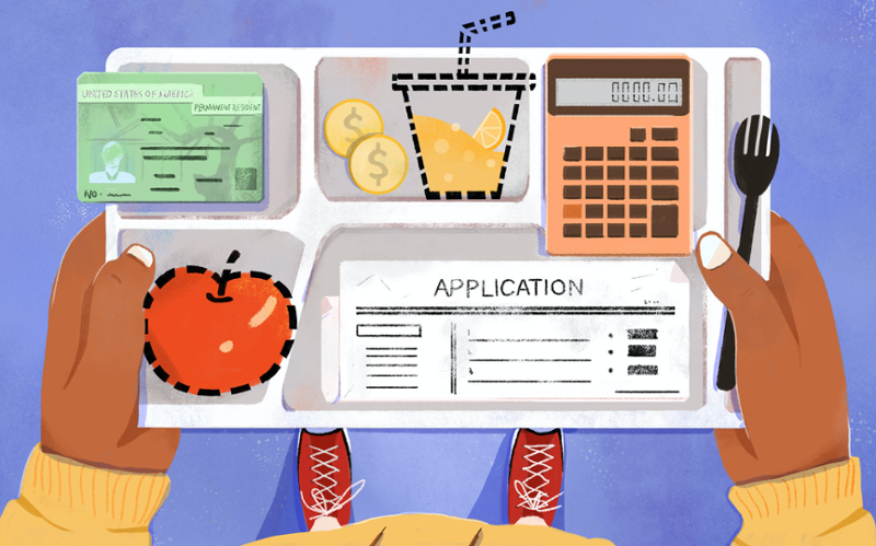 A school lunch that includes financial tools