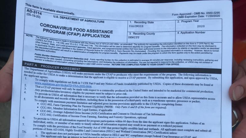 "Image of government form ""Coronavirus Food Assistance Program Application"""