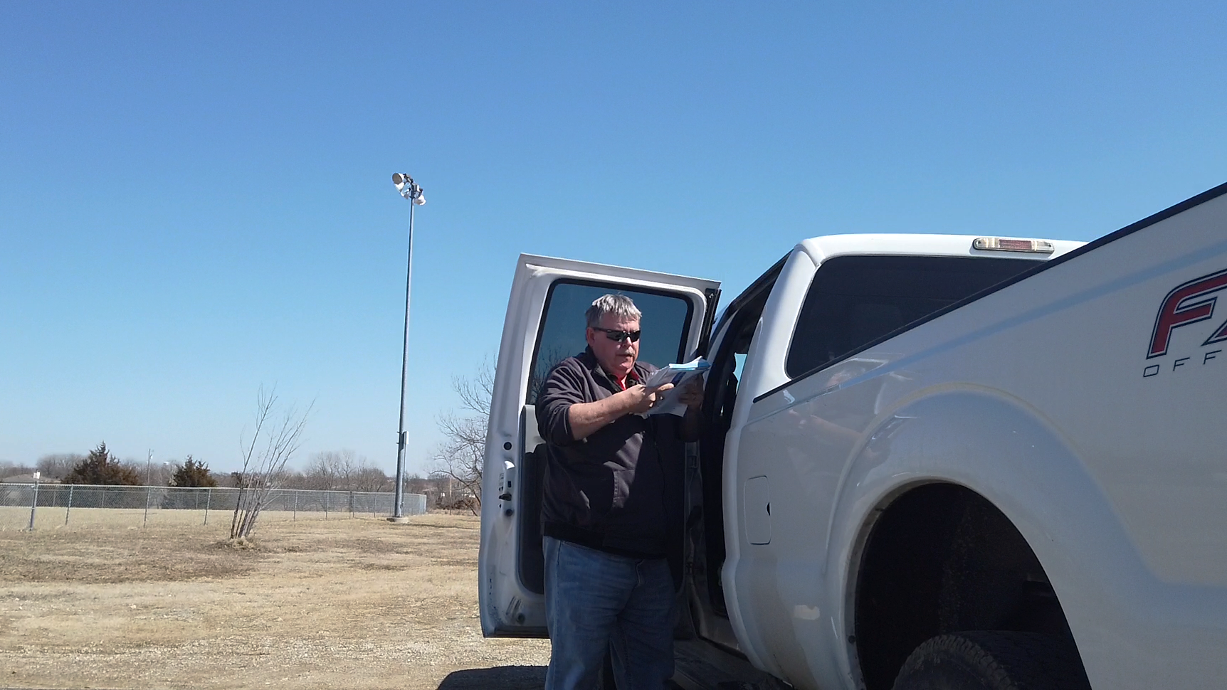 mark junker at his truck