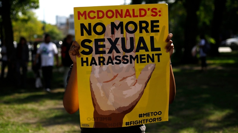 protest sign for McDonald's