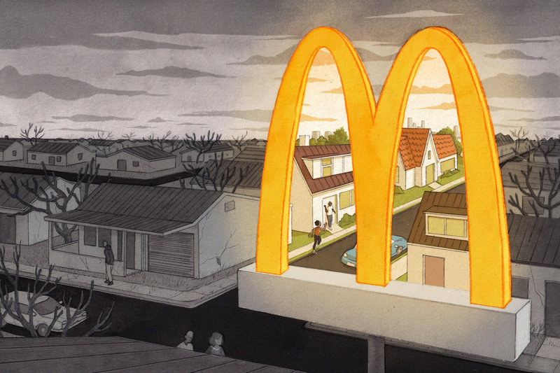 the Golden Arches of McDonalds