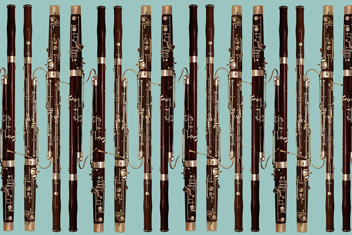 bassoons in a row