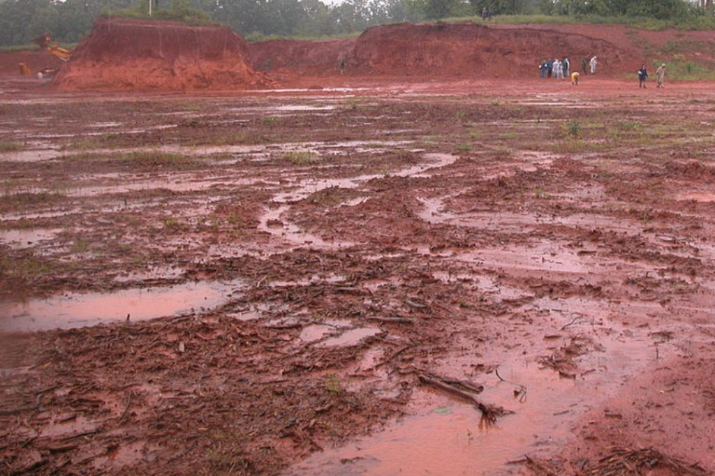 Red clay soil