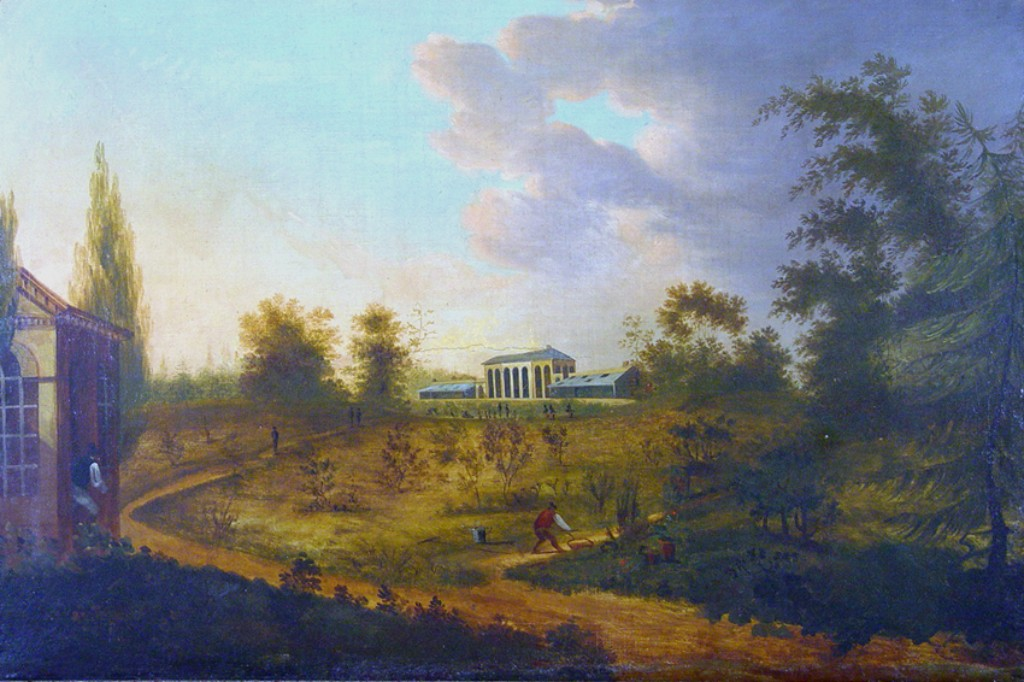 Painting of the Elgin Botanic Garden (ca. 1810)