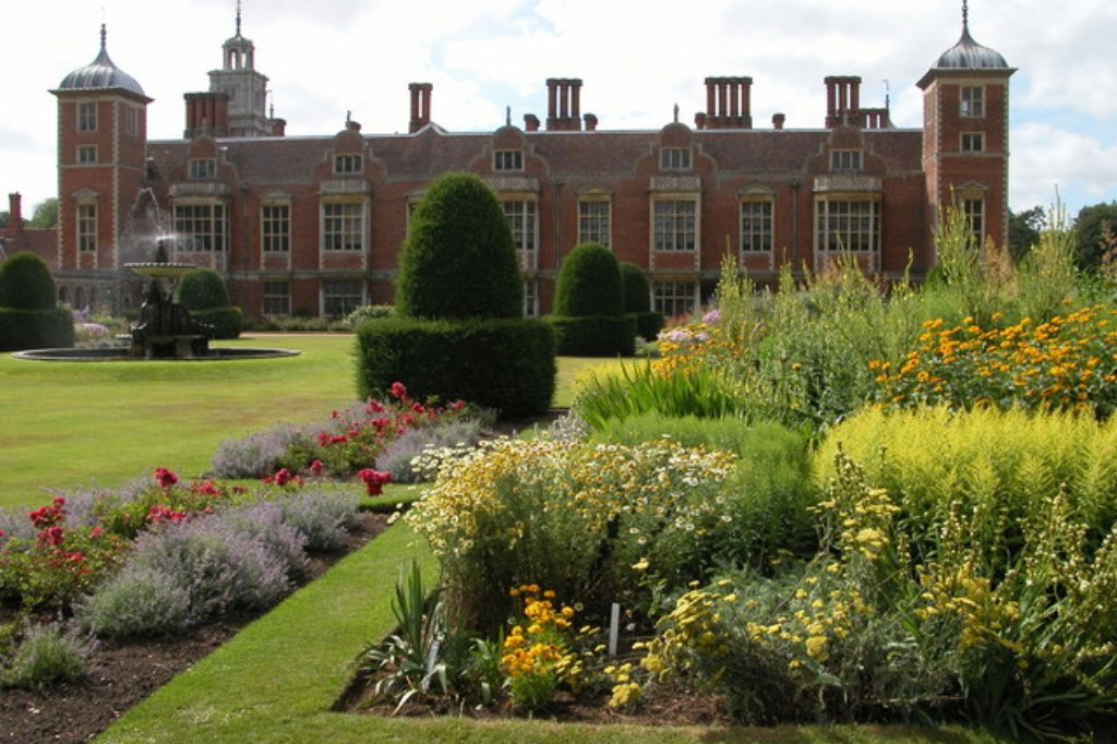 The parterre at Blickling with hardy perennials, remade in 1932 by Norah Lindsay.