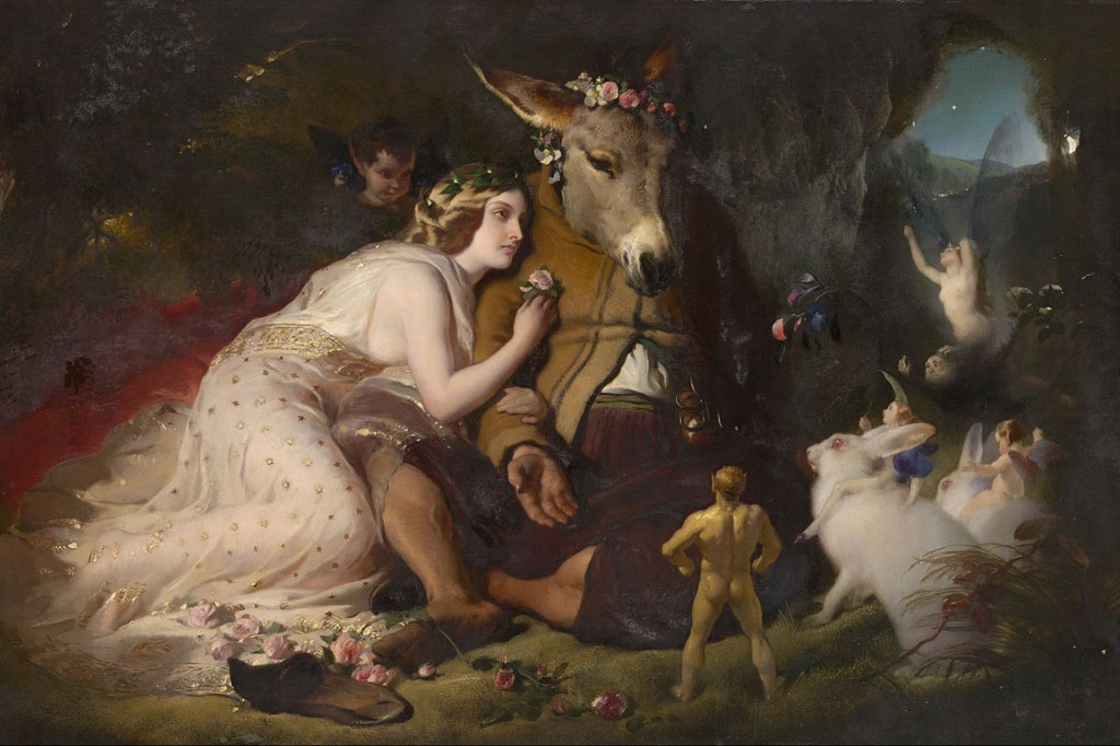 Painting of a scene from A Midsommer Night's Dream by Edwin Henry Landseer.