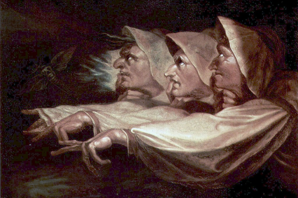 The Weird Sisters or The Three Witches, a painting by Henry Fuseli, 1783.