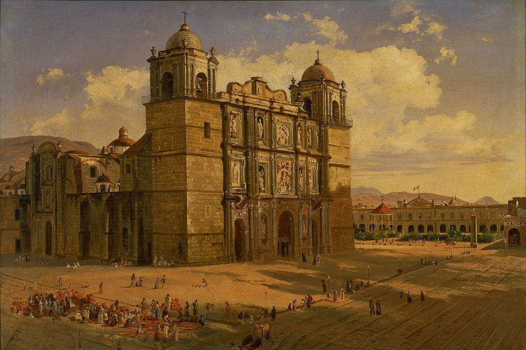 Painting of Oaxaca Cathedral by José María Velasco, 1887