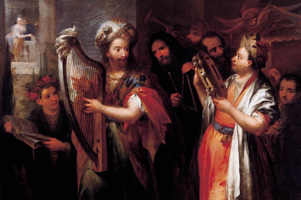 King David playing the zither