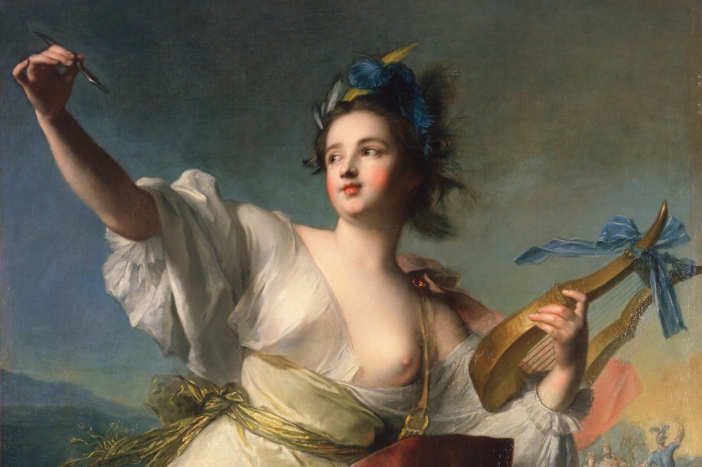 Jean-Marc Nattier's painting Terpsichore, Muse of Music and Dance, 1739
