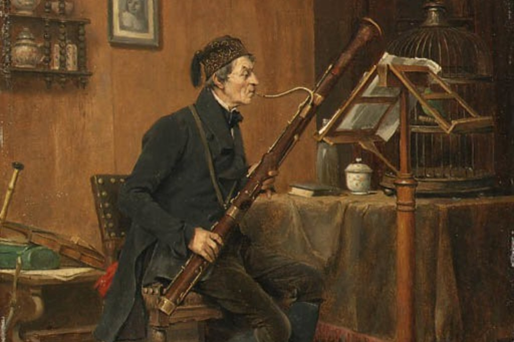 The Bassoon Player, a painting by Belgian painter Gerard Jozef Portielje.