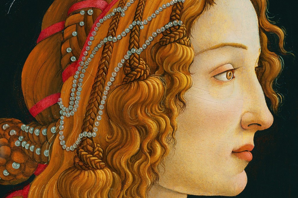 Detail from Botticelli's Idealized Portrait of a Lady.