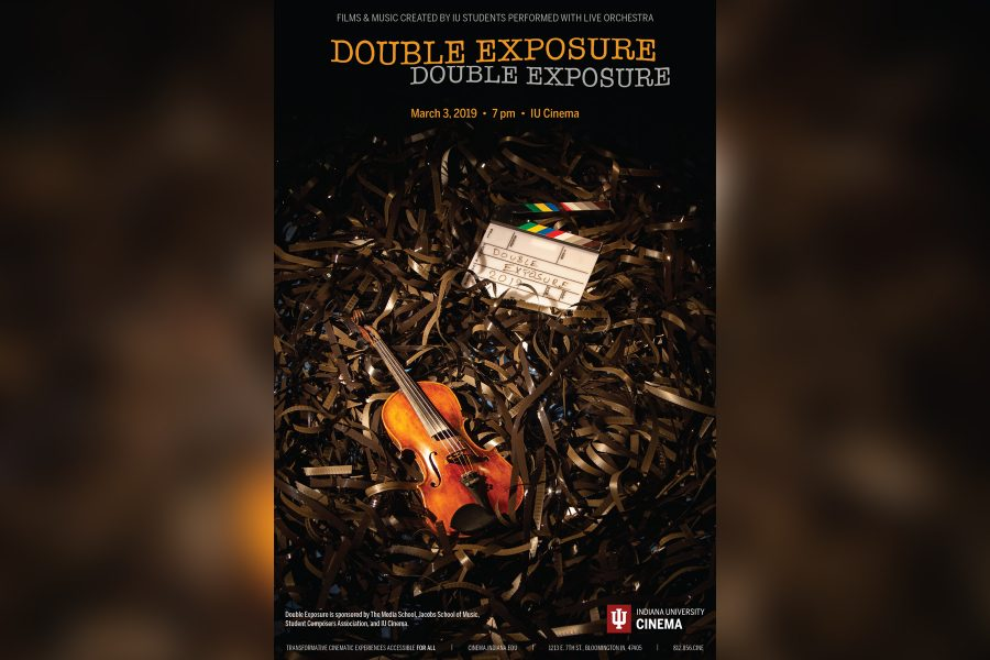 poster displaying double exposure's information