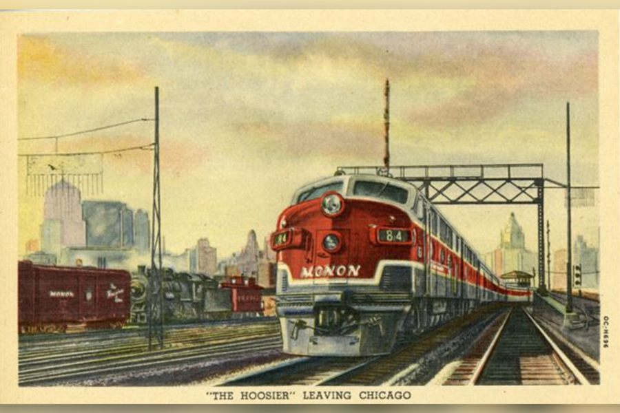 Howard Fogg Monon Chicago postcard