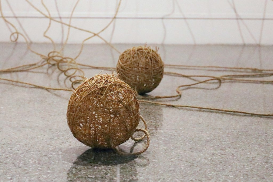 """The Seventh Day"" wicker ball Grunwald"