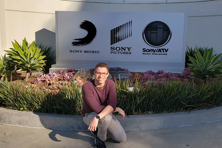 Tyler Combs at Sony Pictures Studios
