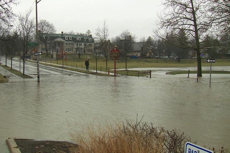 IU campus flooding