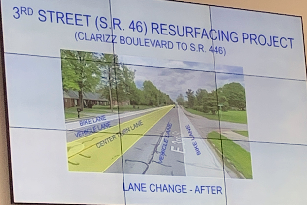SR 46 lane change illustration