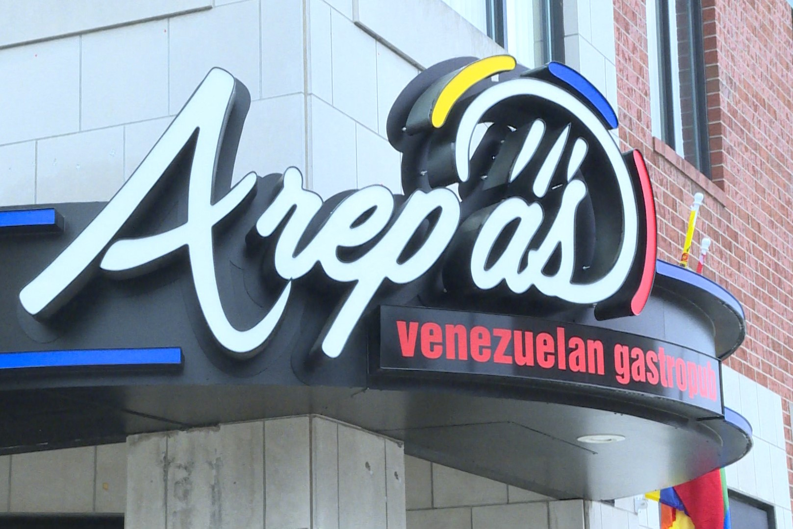 The exterior of Arepas Venezuelan Restaurant in Bloomington.