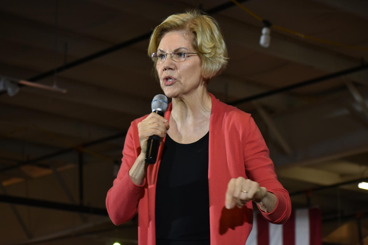 Presidential candidate Elizabeth Warren speaks at an event in Eklhart.
