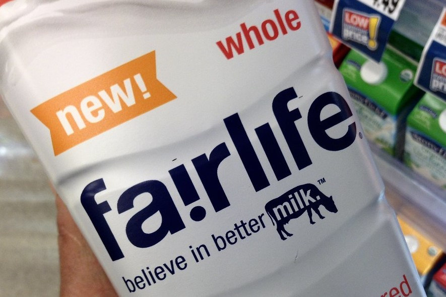 A bottle of Fairlife milk.