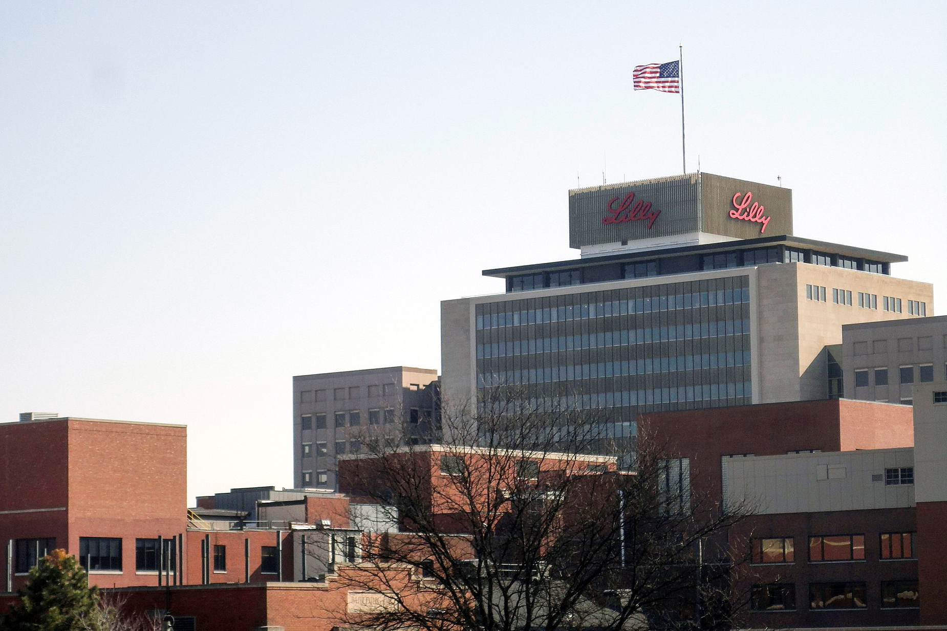 Eli Lilly headquarters building in Indianapolis.