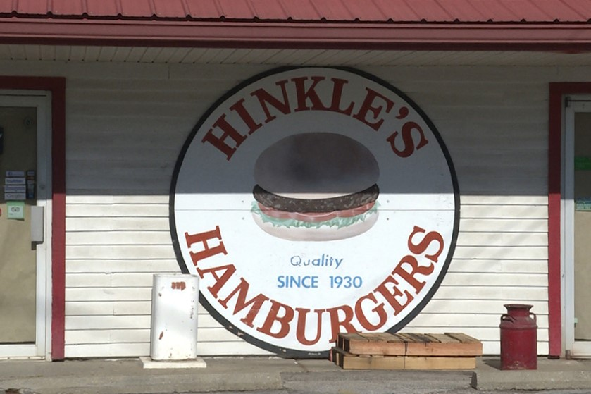 Exterior of Hinkle's Hamburgers in Bloomington