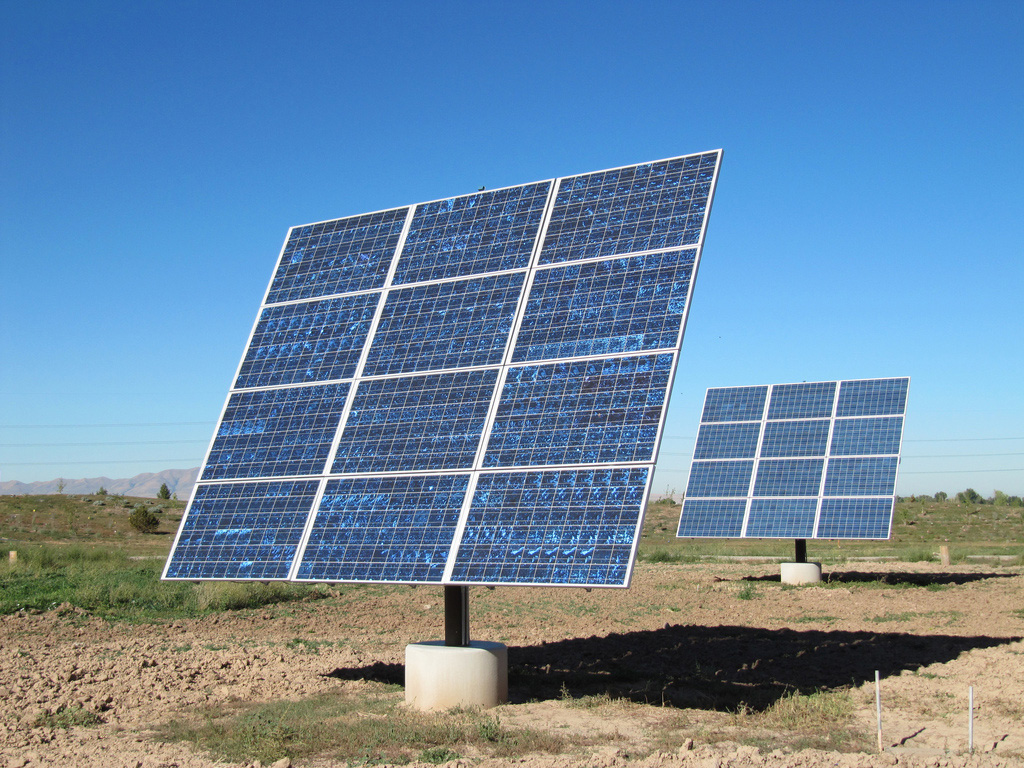 Image of solar panel in field