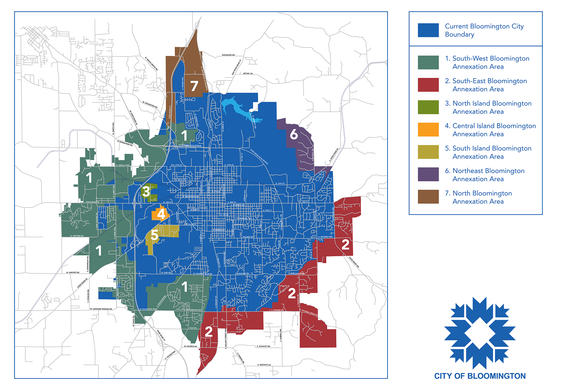 Bloomington annexation map