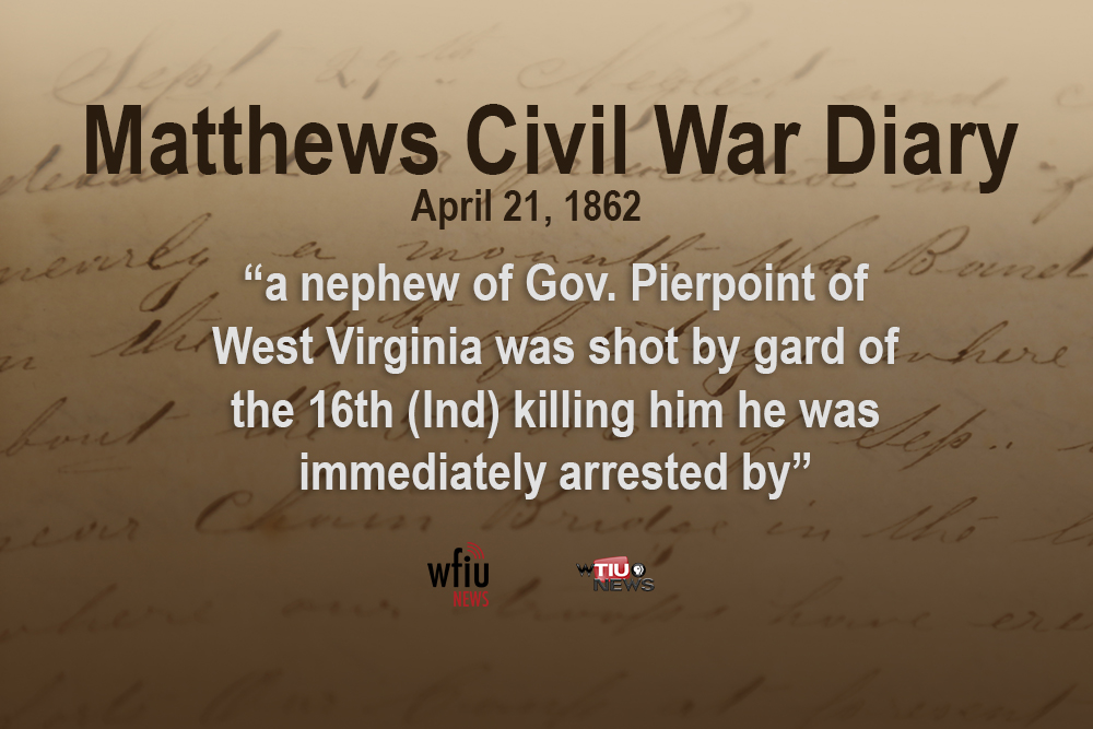 April 21 quote from civil war diary