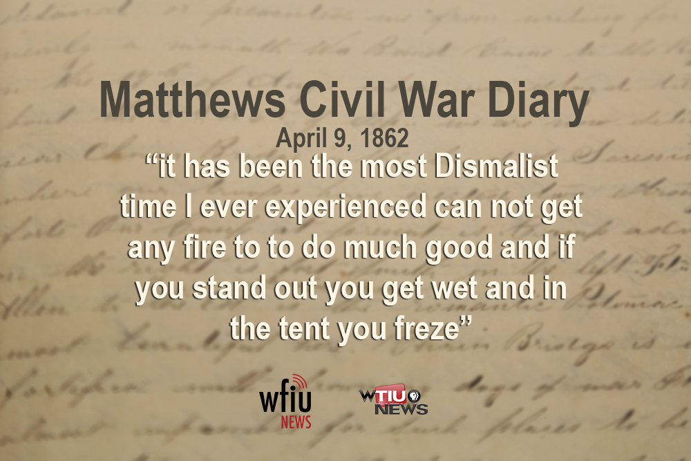 April 9 quote from civil war diary