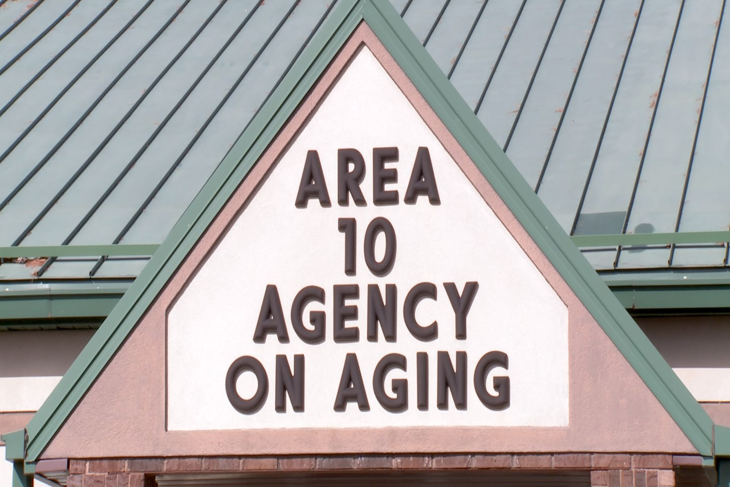 The sign for the Area 10 Agency on Aging in Ellettsville