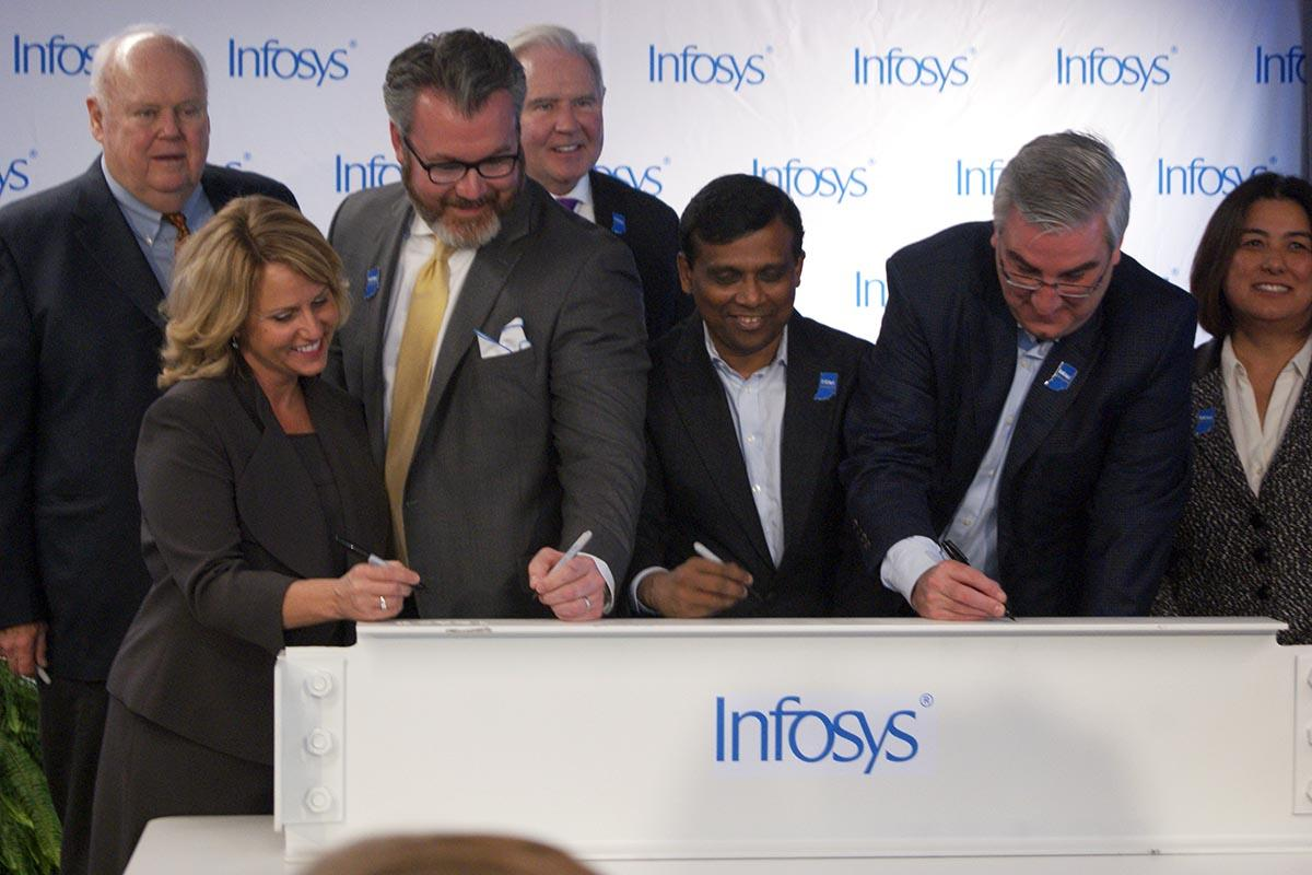 infosys signing with governor