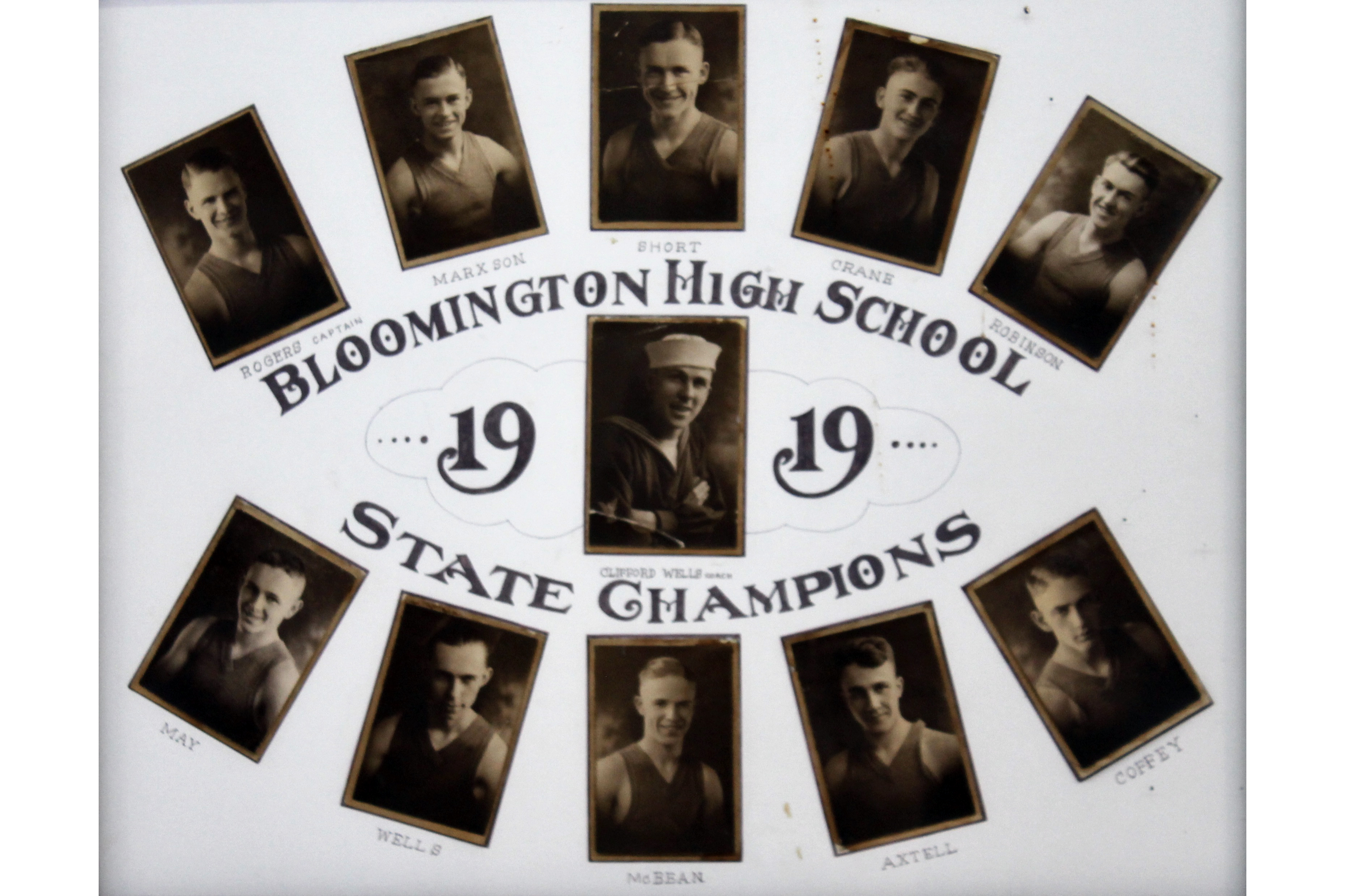 Bloomington High School 1919 Basketball State Champs
