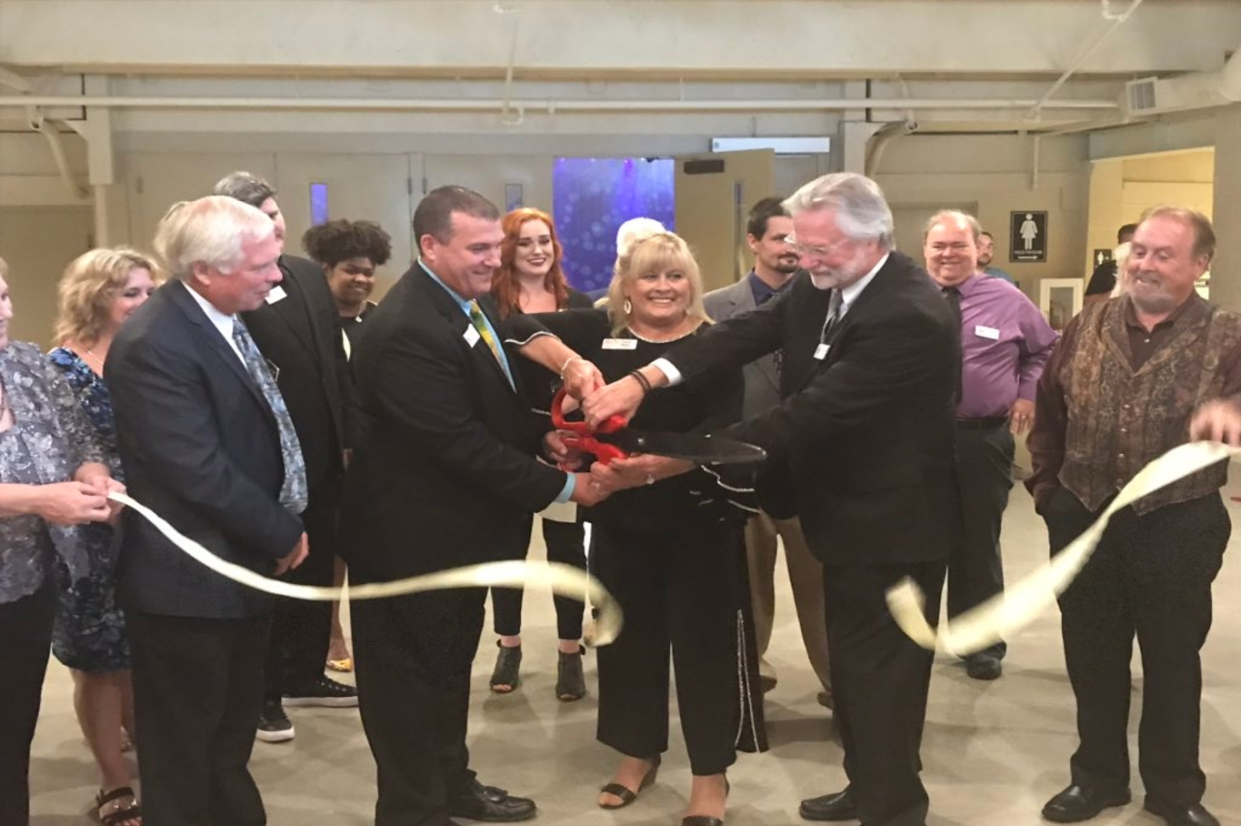 Ribbon cutting at new music center
