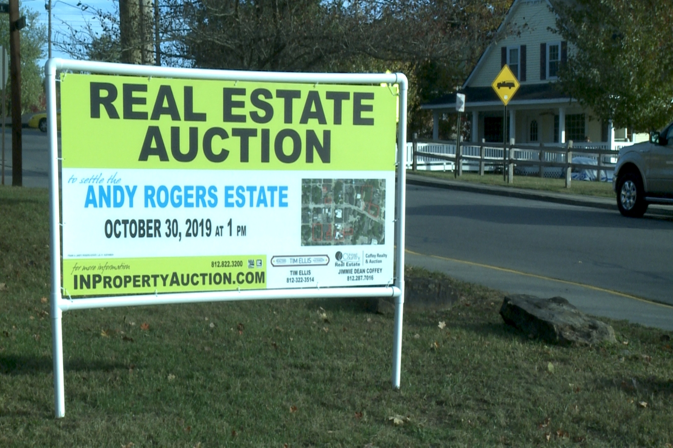 Brown County Auction Sign