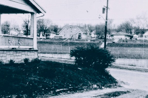 A view of Building Trades Park from 611 W. Second St. in 1958