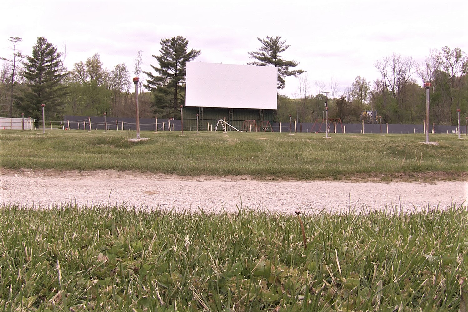 A screen at the Centerbrook Drive-In Theater in Martinsville.