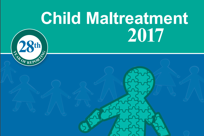 The cover of the child maltreatment 2017 report