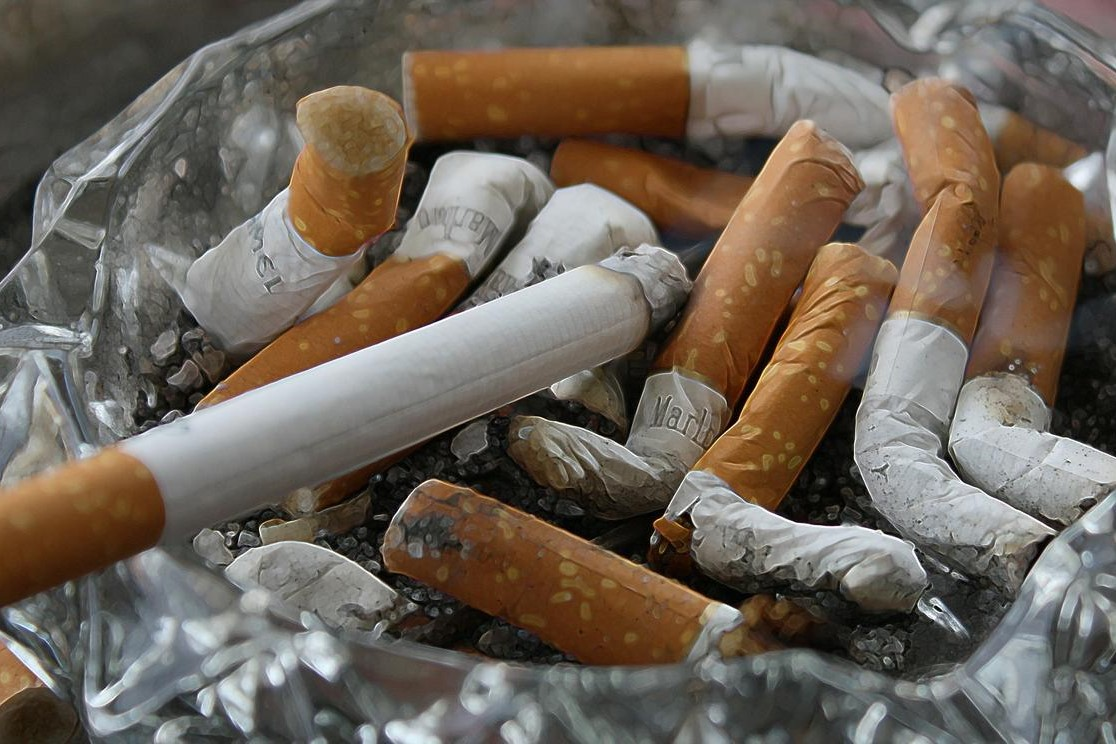 Stock image of cigarettes.