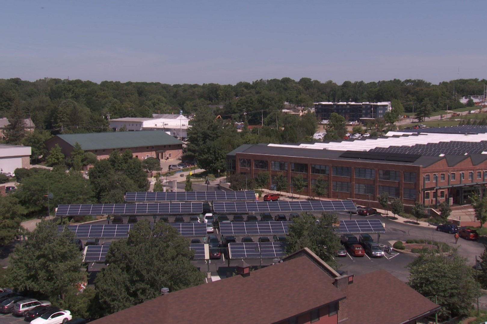 Solar panels on Bloomington city hall