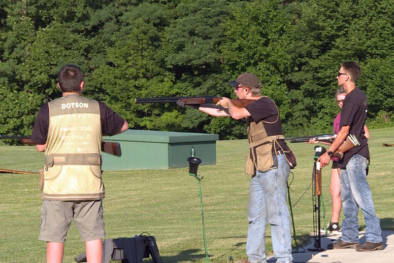 Lapel High School trap team at the Fall Creek Valley Conservation Club students practice over the summer.