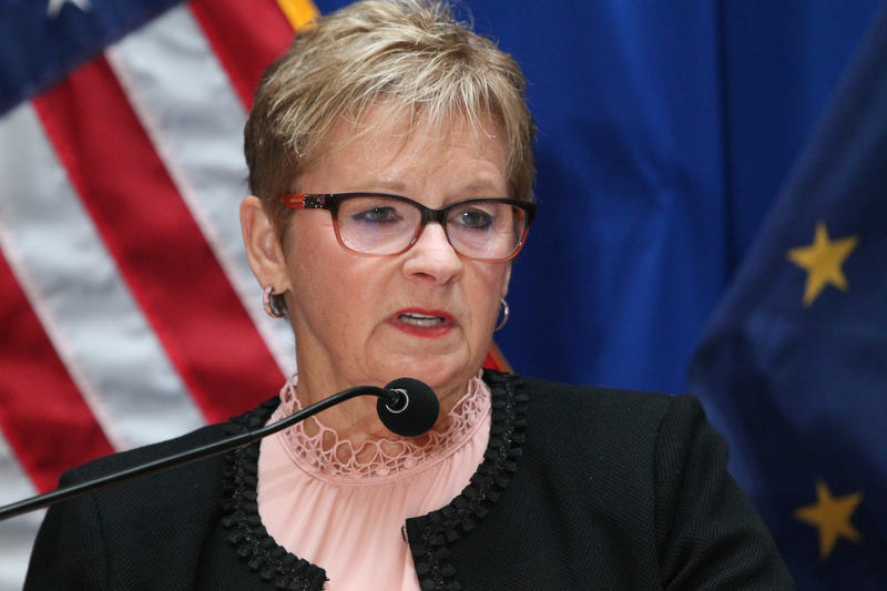 Lawson, who is 71, said she's stepping down to focus on her health and her family. (Lauren Chapman/IPB News)