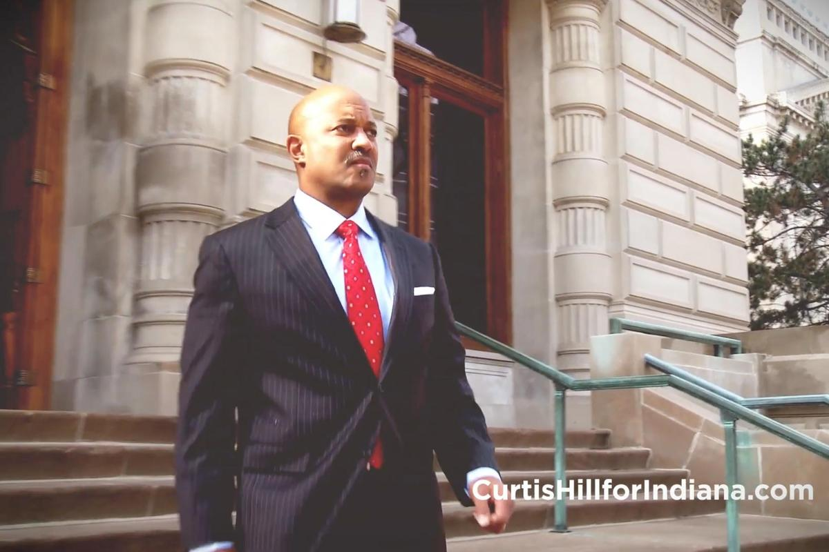 Attorney General Curtis Hill announced his re-election bid via a campaign video.